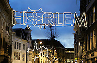 Nederland Haarlem 2016. Straatverlichting tijdens de feestdagen. Foto Berlinda van Dam / Hollandse Hoogte