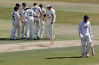 Simon Harmer of Essex leaves the field having been out first ball during Essex CCC vs Kent CCC, Bob Willis Trophy Cricket at The Cloudfm County Ground on 4th August 2020