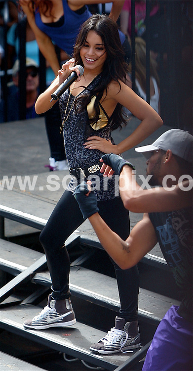 **ALL ROUND PICTURES FROM SOLARPIX.COM**.**WORLDWIDE SYNDICATION RIGHTS EXCEPT FOR USA, AUSTRALIA & GERMANY**.High School Musical star, Vanessa Hudgens rocks out in her free concert in Santa Monica, California, USA. 7th September 2008..This pic: Vanessa Hudgens..JOB REF: 7243 LAS       DATE: 07_09_2008.**MUST CREDIT SOLARPIX.COM OR DOUBLE FEE WILL BE CHARGED* *UNDER NO CIRCUMSTANCES IS THIS IMAGE TO BE REPRODUCED FOR ANY ONLINE EDITION WITHOUT PRIOR PERMISSION*