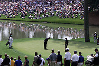 8th April 2001; Augusta, GA, USA; Tiger Woods in putting Action at the US Masters at Augusta Georgia U S A