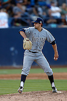 Matt Whitehouse #44 of the UC Irvine Anteaters pitches against the Cal State Fullerton Titans at Goodwin Field on May 18, 2013 in Fullerton, California. Fullerton defeated UC Irvine, 3-2. (Larry Goren/Four Seam Images)