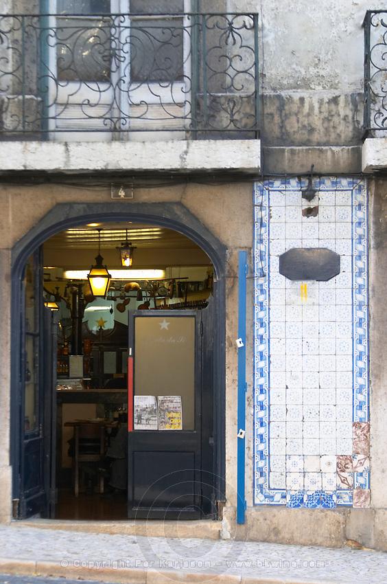 old bar alfama district lisbon portugal