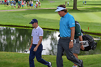 Justin Thomas (USA) and Phil Mickelson (USA) approach the green on 3 during 1st round of the World Golf Championships - Bridgestone Invitational, at the Firestone Country Club, Akron, Ohio. 8/2/2018.<br /> Picture: Golffile | Ken Murray<br /> <br /> <br /> All photo usage must carry mandatory copyright credit (&copy; Golffile | Ken Murray)