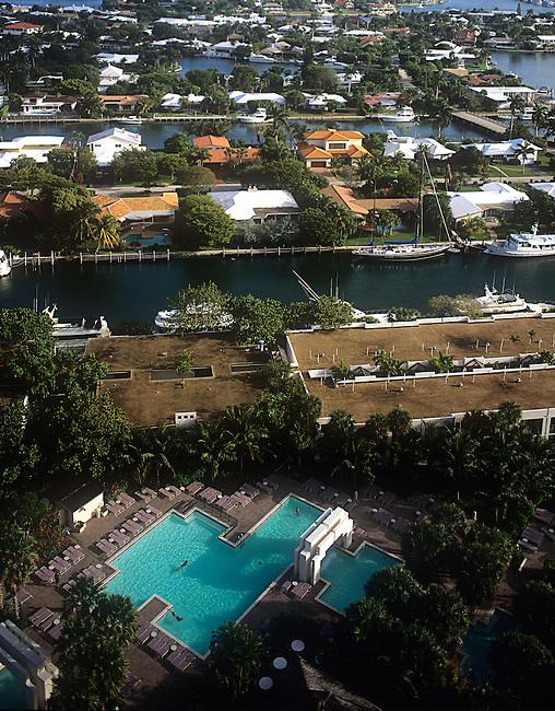 Aerial, Swimming Pool, Pier 66 Resort & Spa, Ft. Lauderdale, Florida