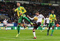 Bolton Wanderers' Craig Noone shoots under pressure from West Bromwich Albion's Mason Holgate<br /> <br /> Photographer Andrew Kearns/CameraSport<br /> <br /> The EFL Sky Bet Championship - Bolton Wanderers v West Bromwich Albion - Monday 21st January 2019 - University of Bolton Stadium - Bolton<br /> <br /> World Copyright © 2019 CameraSport. All rights reserved. 43 Linden Ave. Countesthorpe. Leicester. England. LE8 5PG - Tel: +44 (0) 116 277 4147 - admin@camerasport.com - www.camerasport.com