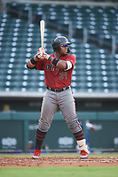 AZL D-backs Sandy Martinez (34) at bat during an Arizona League game against the AZL Cubs 1 on July 25, 2019 at Sloan Park in Mesa, Arizona. The AZL D-backs defeated the AZL Cubs 1 3-2. (Zachary Lucy/Four Seam Images)