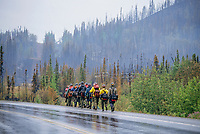 Firefighters, Alaska Highway, near Tok Junction, Alaska