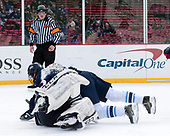 Adam Huska (UConn - 30), Brendan Robbins (Maine - 22), Tim Low - The University of Maine Black Bears defeated the University of Connecticut Huskies 4-0 at Fenway Park on Saturday, January 14, 2017, in Boston, Massachusetts.