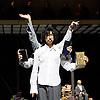 Sidi Larbi Cherkaoui<br /> Apocrifu <br /> at Queen Elizabeth Hall, Southbank, London, Great Britain <br /> press photocall<br /> 24th January 2014 <br /> <br /> Choreography by Sidi Larbi Cherkaoui<br /> <br /> dancers:<br /> <br /> Sidi Larbi Cherkaoui<br /> Dimitri Jourde<br /> Yasuyuki Shuto <br /> <br /> <br /> <br /> Photograph by Elliott Franks