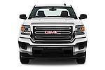 Car photography straight front view of a 2016 GMC Sierra-2500HD 2WD-Double-Cab-Long-Box 4 Door Pick-up Front View