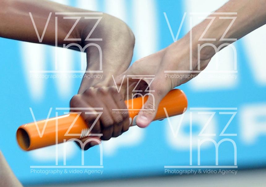 CALI - COLOMBIA - 19-07-2015: Equipo de los Estados Unidos en la prueba de 4 x 400 Metros Relevos Mixtos en el estadio Pascual Guerrero sede, sede de IAAF Campeonatos Mundiales de la Juventud Cali 2015.  / Team of the United States during the test of 4 x 400 Meters Relay Mixed in the Pascual Guerrero home of the IAAF World Youth Championships Cali 2015.  Photos: VizzorImage / Luis Ramirez / Staff.