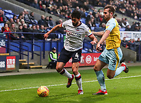 Bolton Wanderers' Jason Lowe competing with Rotherham United's Joe Mattock<br /> <br /> Photographer Andrew Kearns/CameraSport<br /> <br /> The EFL Sky Bet Championship - Bolton Wanderers v Rotherham United - Wednesday 26th December 2018 - University of Bolton Stadium - Bolton<br /> <br /> World Copyright © 2018 CameraSport. All rights reserved. 43 Linden Ave. Countesthorpe. Leicester. England. LE8 5PG - Tel: +44 (0) 116 277 4147 - admin@camerasport.com - www.camerasport.com