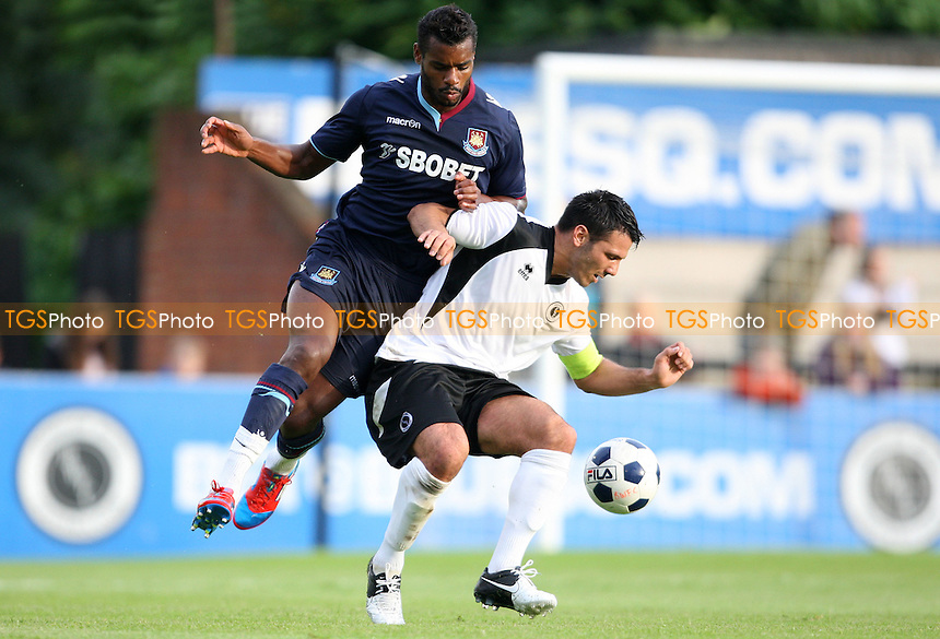 Ricardo Vaz Te of West Ham in action - Boreham Wood vs West Ham United, Pre-season Friendly at Meadow Park, Boreham Wood FC - 10/07/12 - MANDATORY CREDIT: Rob Newell/TGSPHOTO - Self billing applies where appropriate - 0845 094 6026 - contact@tgsphoto.co.uk - NO UNPAID USE..