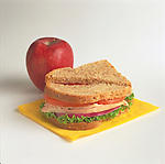 turkey sandwich with apple