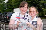 Katie Rafferty and Croiadh Molly (both Castlegregory) waiting for Jedward on Friday.