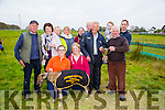 "Working Members Stake  winner   ""Pony Wild"" from Abbeydorney. at Abbeydorney Coursing on Sunday  Pictured l-r  Anthony O'Connell, Marie Keane, Brid Keane, Siobhan Keane, Sheila O'Connell, Mary Roche, Antoinette O'Connell, Joe McCarthy, PJ Keane, Brendan O'Halloran, Niall O'Connell and Saoirse O'Connell"