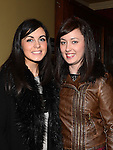 Niamh McKeon and Ciara Carpenter pictured at the Mattock Rangers awards night in Watters of Collon. Photo: Colin Bell/pressphotos.ie