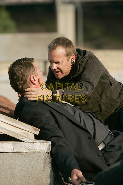 "GERAINT WYN DAVIES & KIEFER SUTHERLAND .in 24  (Season 5).""Day 5: 3:00 PM-4:00 PM? .*Editorial Use Only*.www.capitalpictures.com.sales@capitalpictures.com.Supplied by Capital Pictures."