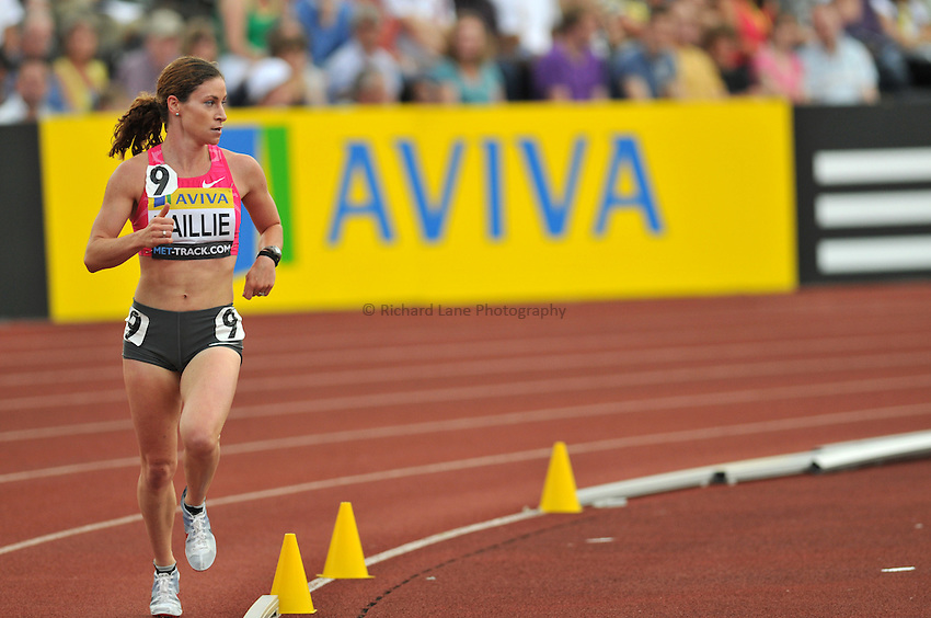 Photo: Tony Oudot/Richard Lane Photography..Aviva London Grand Prix. 25/07/2009. .women's 5000m.Renne Bailie of USA