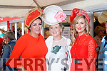 Suzanne McGarry, Ellen Stokes and Siobhan Boyce, all from Limerick, enjoying Ladies Day at Listowel Races on Friday last.