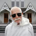 """Serafino """"Sy,"""" an altar boy at St. John's Roman Catholic Church in Pawling, NY."""