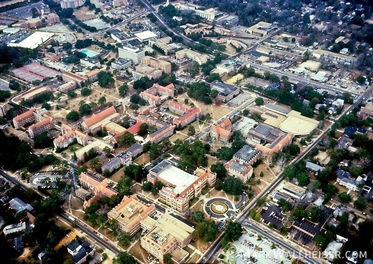 1981 Historical aerial photographs of  Florida State University in Tallahassee, Florida December 23, 1981.