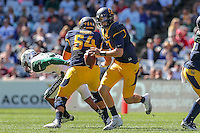 SYDNEY, AUSTRALIA - August 27, 2016:  Cal Bears Football vs. Hawaii Rainbow Warriors at ANZ Stadium.  Cal Bears 51, Hawaii Rainbow Warriors 31.