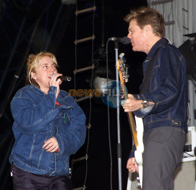 Mel C and Brian Adams at the sound check in slane on Friday evening..Picture: Paul Mohan/Newsfile