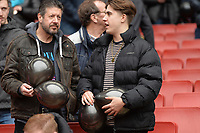West Ham fans with Black Ballons during Arsenal vs West Ham United, Premier League Football at the Emirates Stadium on 7th March 2020
