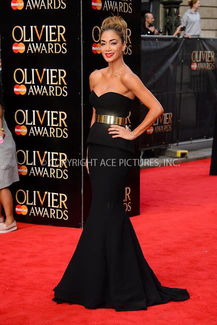 WWW.ACEPIXS.COM<br /> <br /> April 12 2015, London<br /> <br /> Nicole Scherzinger arriving at The Olivier Awards 2015 at Royal Opera House on April 12 2015 in London<br />  <br /> By Line: Famous/ACE Pictures<br /> <br /> <br /> ACE Pictures, Inc.<br /> tel: 646 769 0430<br /> Email: info@acepixs.com<br /> www.acepixs.com