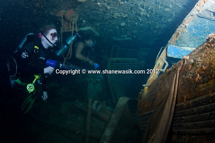 Exploring the wreck of the ro-ro ferry - Ovalau.