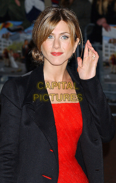 JENNIFER ANISTON.Along Came Polly Premiere, London..18th February, 2004.Ref: Ten.half length, half-length, hand to ear, can't hear.www.capitalpictures.com.sales@capitalpictures.com.©Capital Pictures