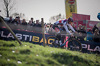 Mathieu van der Poel (NED/Beobank-Corendon)<br /> <br /> Elite Men's course recon<br /> Koppenbergcross / Belgium 2017