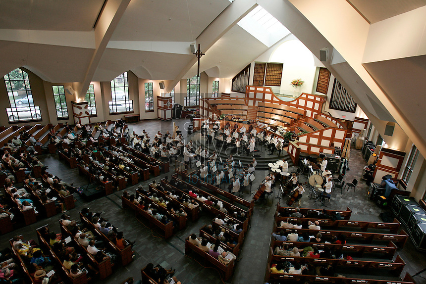 An Atlanta Symphony Orchestra performance at Ebenezer Baptist Church on Auburn Avenue in Atlanta on Sunday, July 29, 2007, a final event of the annual National Black Arts Festival.