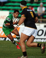 Manawatu second five Johnny Leota during the Air NZ Cup preseason match between Manawatu Turbos and Wellington Lions at FMG Stadium, Palmerston North, New Zealand on Friday, 17 July 2009. Photo: Dave Lintott / lintottphoto.co.nz