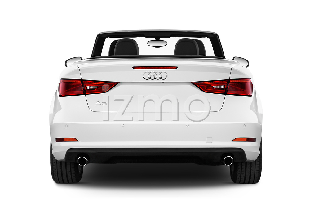 Straight rear view of 2015 Audi A3 2.0T quattro S tronic Premium 2 Door Convertible stock images