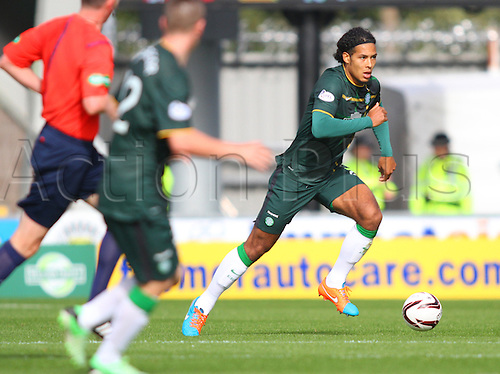 27.09.2014.  Glasgow, Scotland. Scottish Premier League. St Mirren versus Celtic. Virgil van Dijk of Celtic