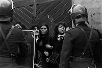 Toma y desalojo del liceo ni√±as N¬∫ 4 de Santiago ocupado por las alumnas para protestar por la municipalizaci√≥n de la educaci√≥n.<br /> SANTIAGO CHILE 25 Septiembre 1985<br /> <br /> Forty years ago, on September 11, 1973, a military coup led by General Augusto Pinochet toppled the democratic socialist government of Chile. President Salvador Allende was killed during the  attack to seize  La Moneda presidential palace.  In the aftermath of the coup, a quarter of a million people were detained for their political beliefs, 3000 were killed or disappeared and many thousands were tortured.<br /> Some years later in 1981, while Pinochet ruled Chile with iron fist, a young photographer called Juan Carlos Caceres started to freelance in the streets of Santiago and the poblaciones or poor outskirts, showing the growing resistance against the dictatorship. For the next 10 years Caceres photographed every single protest and social movement fighting for the restoration of democracy. He knew that his camera was his only weapon, he knew that his fate was to register the daily violence and leave his images for the History.<br /> In this days Caceres is working to rescue and organize his collection of images in the project Imagenes de la Resistencia   . With support of some Chilean official institutions, thousands of negatives are digitalized and organized to set up the more complete visual heritage of this  violent period of Chile´s history.
