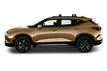 Car Driver side profile view of a 2019 Chevrolet Blazer RS 5 Door SUV Side View