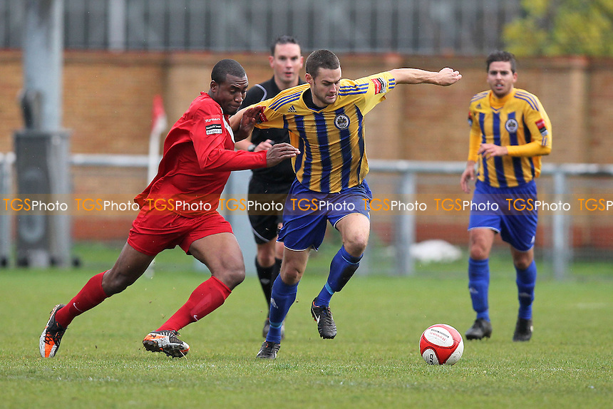 Paul Clayton in action for Romford - Harlow Town vs Romford - Ryman League Division One North Football at Barrows Farm Stadium, Harlow, Essex - 27/10/12 - MANDATORY CREDIT: Gavin Ellis/TGSPHOTO - Self billing applies where appropriate - 0845 094 6026 - contact@tgsphoto.co.uk - NO UNPAID USE.