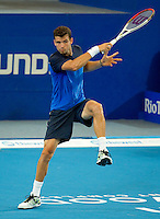 GRIGOR DIMITROV (BUL) against TOMAS BERDYCH (CZE) in the group stage of the Hopman Cup. Czech Republic beat Bulgaria 6-4 6-7 6-3..02/01/2012, 2nd January 2012, 02.01.2012..The HOPMAN CUP, Burswood Dome, Perth, Western Australia, Australia.@AMN IMAGES, Frey, Advantage Media Network, 30, Cleveland Street, London, W1T 4JD .Tel - +44 208 947 0100..email - mfrey@advantagemedianet.com..www.amnimages.photoshelter.com.