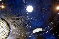 The ceiling of Diocleziano Thermae<br /> Roma 03-04-2016 Terme di Diocleziano. Mostra 'In Acqua: H2O molecole di creativita'. Decine di stilisti hanno creato, per l'occasione, abiti, accessori e gioielli che richiamano l'acqua.<br /> Diocleziano Thermae. Exhibition 'In water: H2O molecules of creativity'.Tens of famous stylists created dresses, accessories and jewels that recall water.<br /> Photo Samantha Zucchi Insidefoto