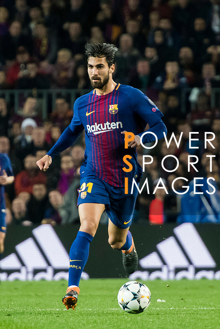 Andre Filipe Tavares Gomes of FC Barcelona in action during the UEFA Champions League 2017-18 Round of 16 (2nd leg) match between FC Barcelona and Chelsea FC at Camp Nou on 14 March 2018 in Barcelona, Spain. Photo by Vicens Gimenez / Power Sport Images