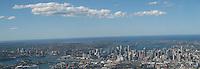 Panoramic view above Sydney Harbor