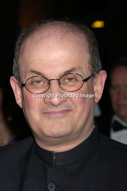 Salman Rushdie ..at the 2005 Pen Montblanc Literary Gala at The American Museum of Natural History on April 20, 2005. The Gala honors domestic and international champions of free expression with the Freedom of Expression Awards. ..Photo by Robin Platzer, Twin Images..