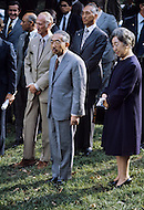 October, 1975. Washington D.C., U.S.A. Portrait of the Japanese Emperor Hirohito during his official visit to the White House in Washington D.C.