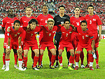 Players of Singapore Team line up and pose for a photo prior to their AFF Suzuki Cup 2008 Semi-Finals 2nd leg match between Singapore and Vietnam at National Stadium on 21 December 2008, in Kallang, Singapore. Photo by Stringer / Lagardere Sports