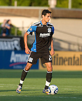 Andre Luiz of Earthquakes in action during the game against the Red Bulls at Buck Shaw Stadium in Santa Clara, California.  San Jose Earthquakes defeated New York Red Bulls, 4-0.