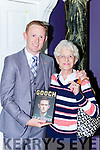 Eileen Collins Listowel with Colm Cooper at the launch of Gooch The Autobiography in the Gleneagle Hotel on Thursday evening