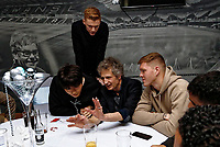 Pictured: Ki SUng Yueng, Sam Clucas and Alfie Mawson of Swansea City <br /> Re: Swansea City FC Christmas party at the Liberty Stadium, Wales, UK. Thursday 14 December 2017